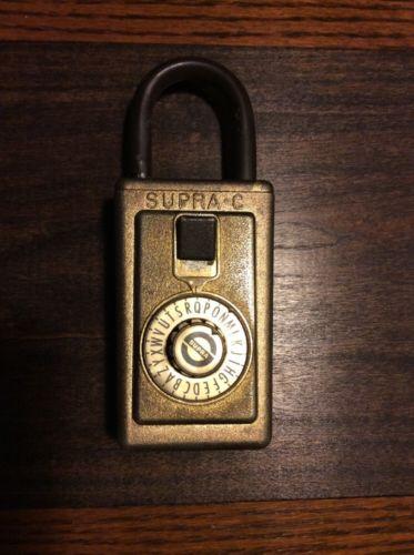 Vintage Supra-C Letter Lockbox