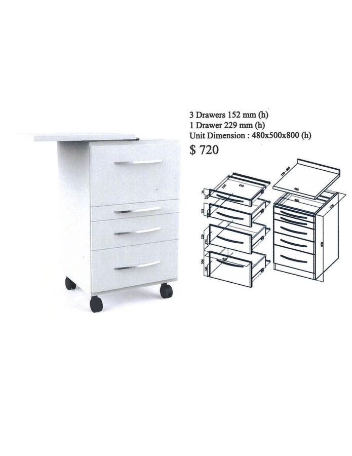 CDS Assistant Alabama Mobile Cabinet Cart (White)(Metal)