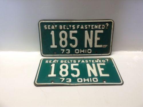 Ohio 1973 License Plate