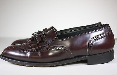 FLORSHEIM IMPERIAL 10 D  CORDOVAN TASSELED BROGUE WINGTIP BEAUTIFUL SHOES