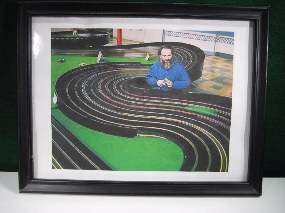 Vintage Slot Car Racing Photograph.