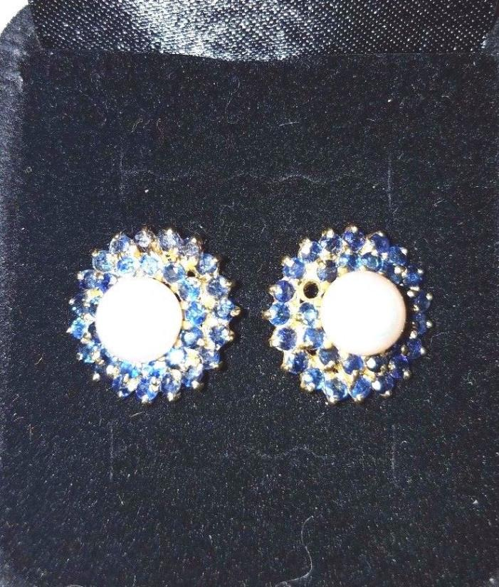 sapphire ring and earrings