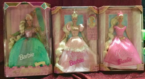 BARBIE RAPUNZEL LOT OF 3 DOLLS, 1994, 1997, 1999 - SUPER NICE CONDITION