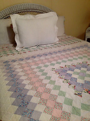 Twin Size Hand Sewn Patchwork Quilt