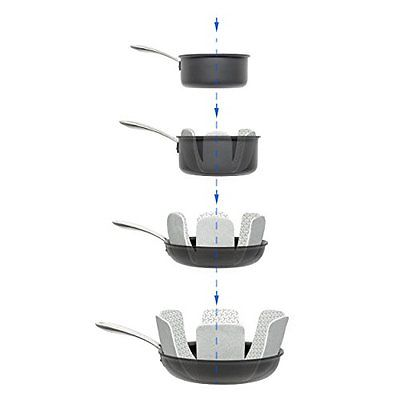 Cookware Accessories Pan and Pot Protectors - Set of 3 - Gray - 16 Inches Long -