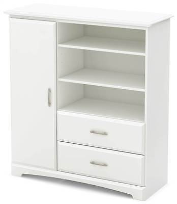 Armoire with Drawers in Pure White Finish [ID 3495465]