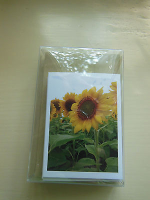 HANDCRAFTED SUNFLOWER PHOTO GIFT TAG OR GIFT CARD 5-PACK