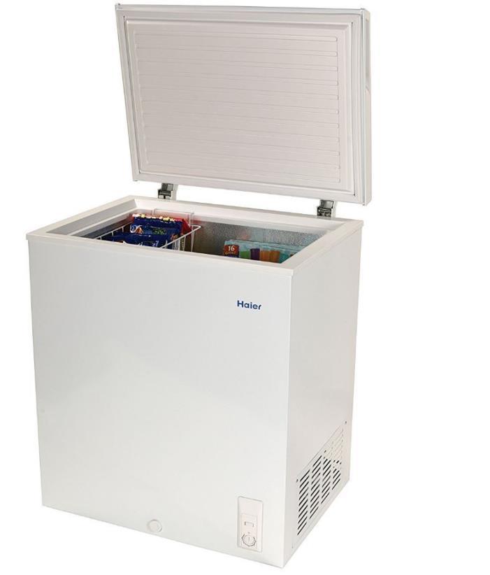 Chest Freezer 5 Cu Ft Haier Large Deep Freeze Removable Basket White
