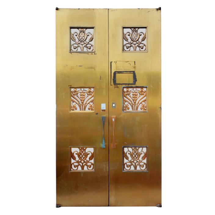 Reclaimed Pair of Antique Art Deco Bronze Doors, c.1930, NED518