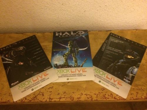 Halo Reach Elite Armor, Falcon Avatar Accessory & Spartan Recon Helmet DLC Cards