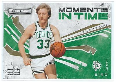 09/10 Rookies and Stars-Larry Bird Moments in Time insert-Cletics