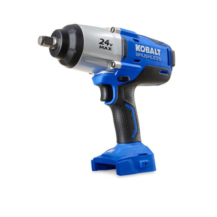 Kobalt 24-Volt 1/2-in Drive, Brushless Motor Cordless Impact Wrench, (Bare Tool)