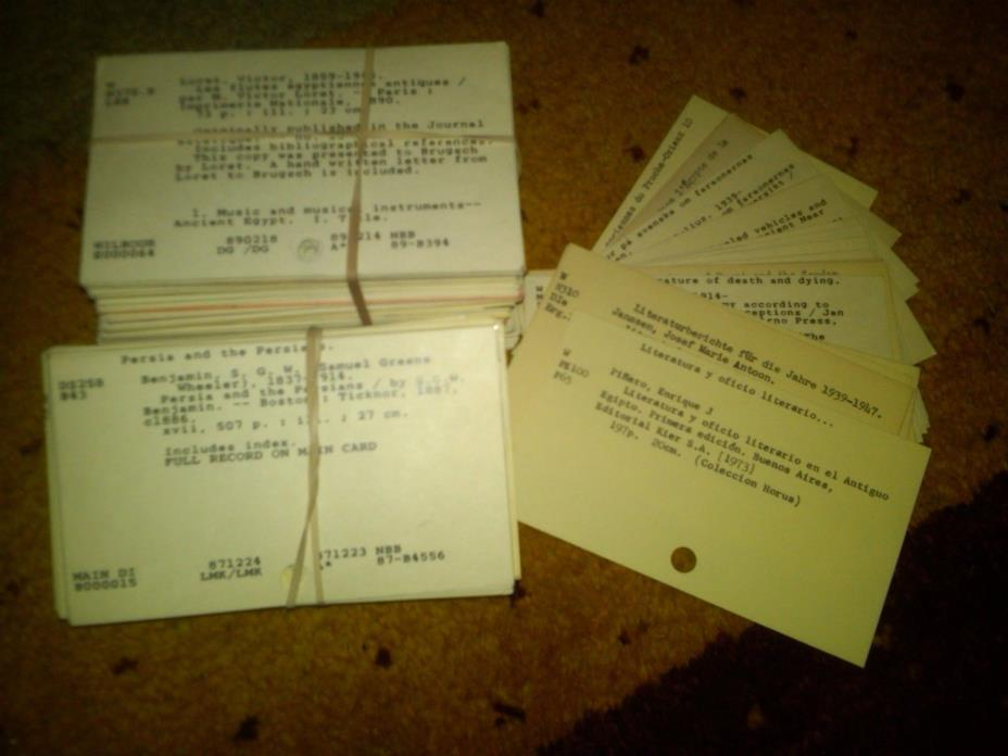 Library Card Catalog Index Cards, Crafting, Scrapbooking, Lot 50