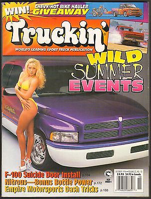 OCTOBER 1996 TRUCKIN' MAGAZINE '96 DODGE CLUB CAB, '68 GMC, '83 CHEVY S-10