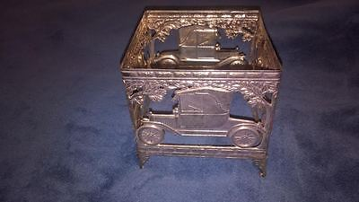 Vtg Antique Car Style Gold Brass Kleenex Tissue Box Holder
