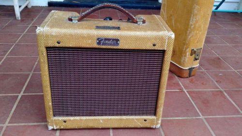 Vintage 1959 Fender Tweed Champ Amp 5 F1  Circuit Guitar Amplifier USA