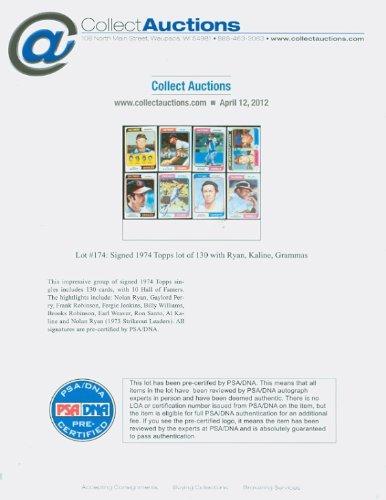 Danny Ozark QUAD SIGNED 1974 Topps #119 Philadelphia Phillies CARD IS F/P