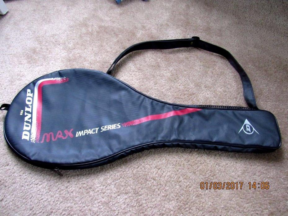 DUNLOP MAX IMPACT SERIES BLACK TENNIS RACKET COVER BAG CASE