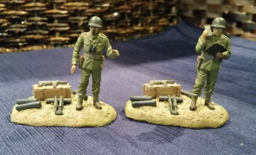 21st Century Toys American Soldier Figures on Stands 1:32  WWII Plastic