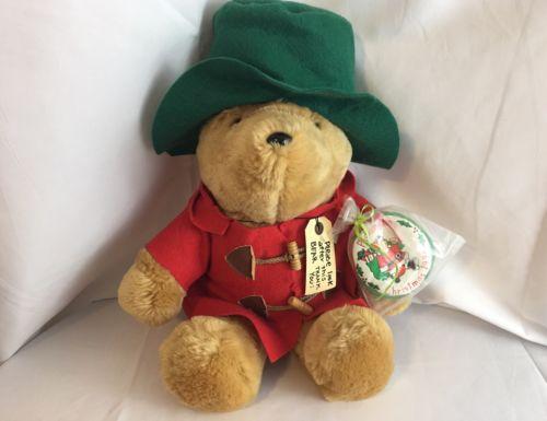 Paddington Bear Plush Teddy Bear and Ornament Christmas 1994 Sears