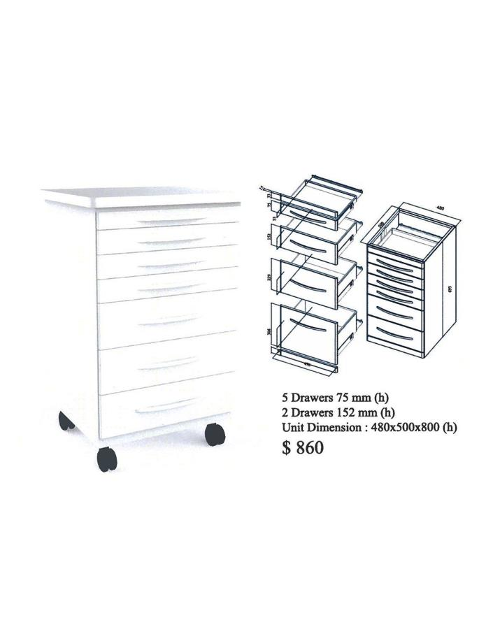 CDS Doctor's Mobile Cabinet Cart (White)(Metal)