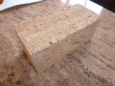 High Density Cork Block for Carving Decoys 9 1/4 x 4 x 4