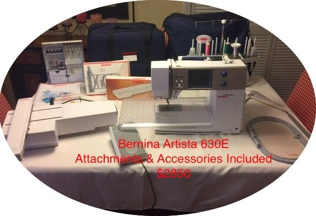 Bernina Artista 630E Sewing, Quilting and Embroidery Machine with Accessories