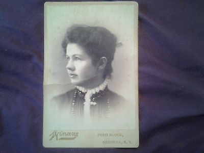 women 1800 Cabinet Card, Black & White Contemporary Image