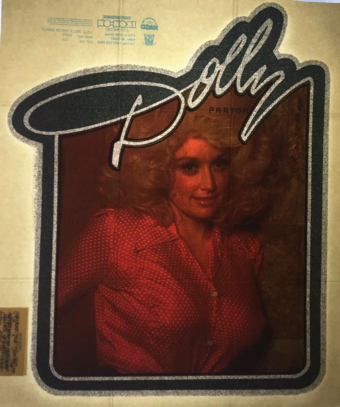 VINTAGE 70's DOLLY PARTON 'DOLLY' IRON ON Heat T-SHIRT TRANSFER NOS  Last One