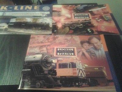 LIONEL 1999 TRAIN CATALOGS   + k line catalog