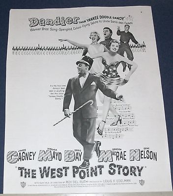 1950 James Cagney WEST POINT STORY Movie Ad Doris Day