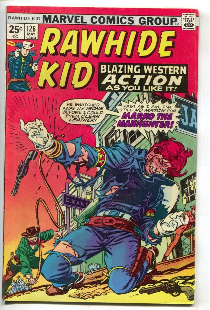 Rawhide Kid 126 Marvel 1975 FN 48 Whip Stan Lee Gil Kane Cowboy Western