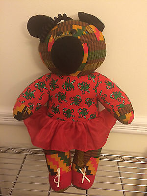 Vintage 1994 Avon Kwanzaa Teddy Bear NWOT BEAUTIFUL FESTIVE *RARE*