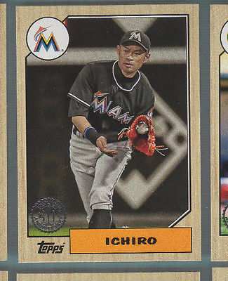 2017 Topps Baseball - 1987 30th Anniversary - Ichiro - Marlins