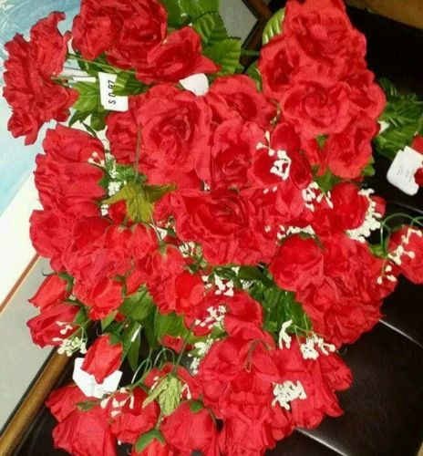 Arificial Red Roses 26 ct Flowers Wedding Decorations Crafts