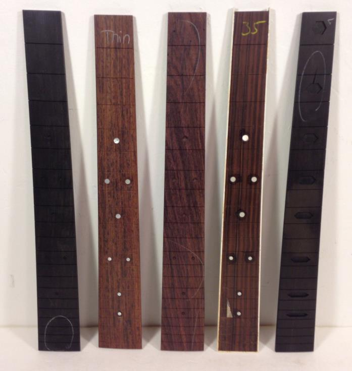 Lot of 5 C.F. MARTIN Mixed FRET BOARDS - Ebony & Rosewood