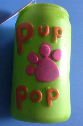 DOGGY SQUEKY TOY PUP POP CAN OF SODA PETS TOY  Dogs Supplies