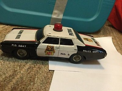 Vintage japenese  tin police highway patrol car