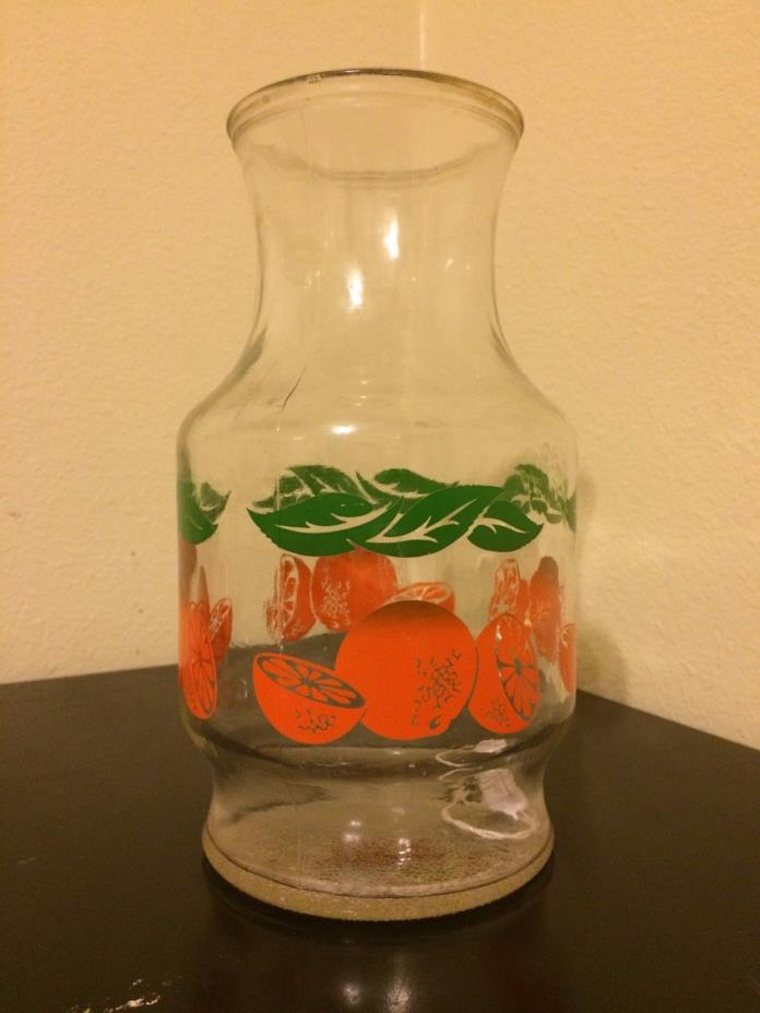 vintage orange juice pitcher