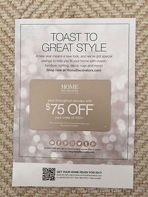 Home Decorators Collection coupon $75 off $250 Expires 1/31/2017