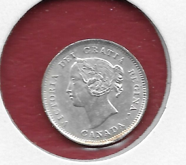 1899 Canadian Silver Five Cent