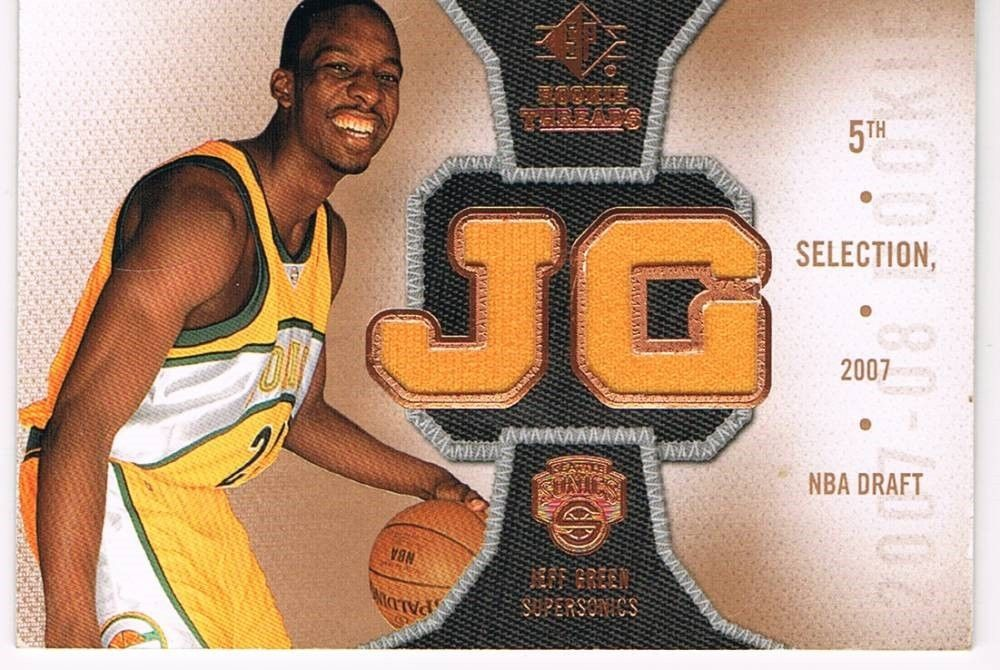Jeff Green Worn Jersey Rookie Shoot Roolie Threads B4829 E18