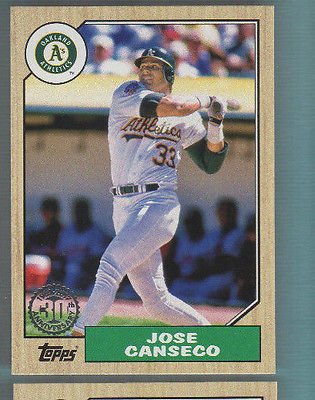 2017 Topps Baseball - 1987 30th Anniversary - Jose Canseco - Oakland A's