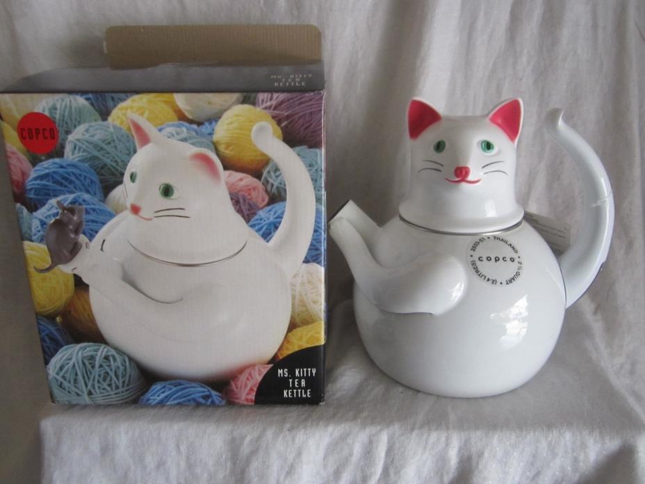 Copco Ms. Kitty Tea kettle new in original box (KJ)