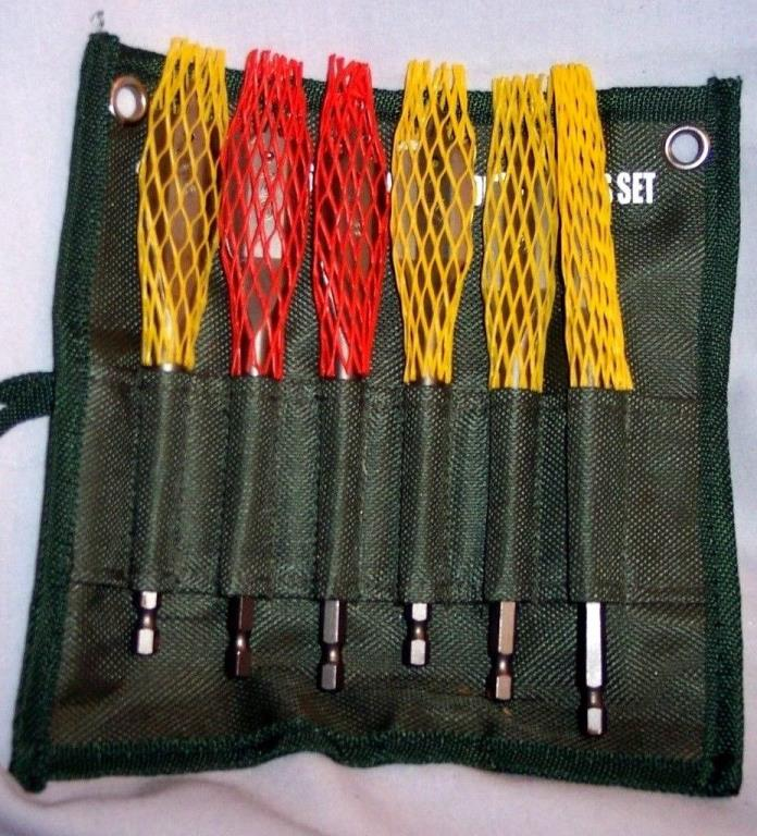 CUMMIN'S PRO INDUSTRIAL TOOLS 6 PIECE USA SPADE DRILL BITS SET IN ROLL UP CASE