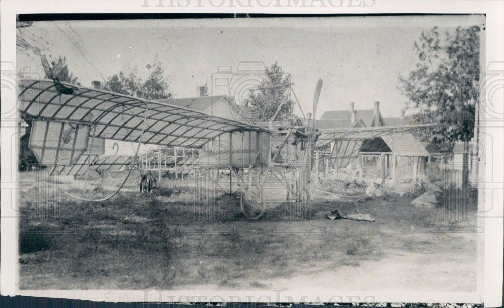 1935 Glider Builder Charles Augustine Press Photo