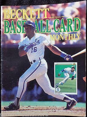 BECKETT BASEBALL CARD MONTHLY Magazine BO JACKSON February 1990 KEN GRIFFEY JR A
