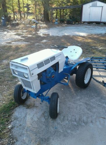 VINTAGE Sears Suburban Garden Tractor WITH Equipment