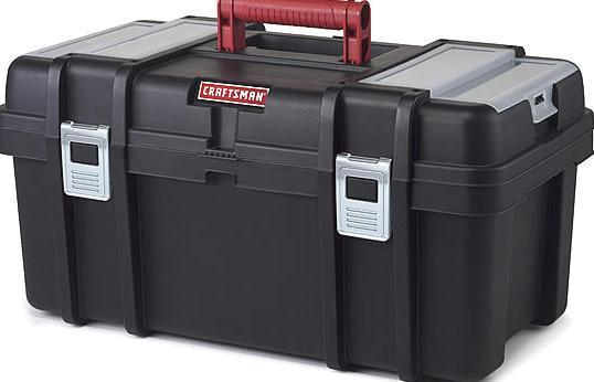Craftsman 22 Inch Original Tool Box Storage Organizer with Tray Black/Red 50022