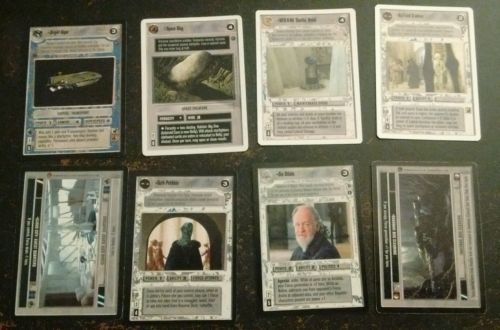 star wars ccg lot of 8 rares